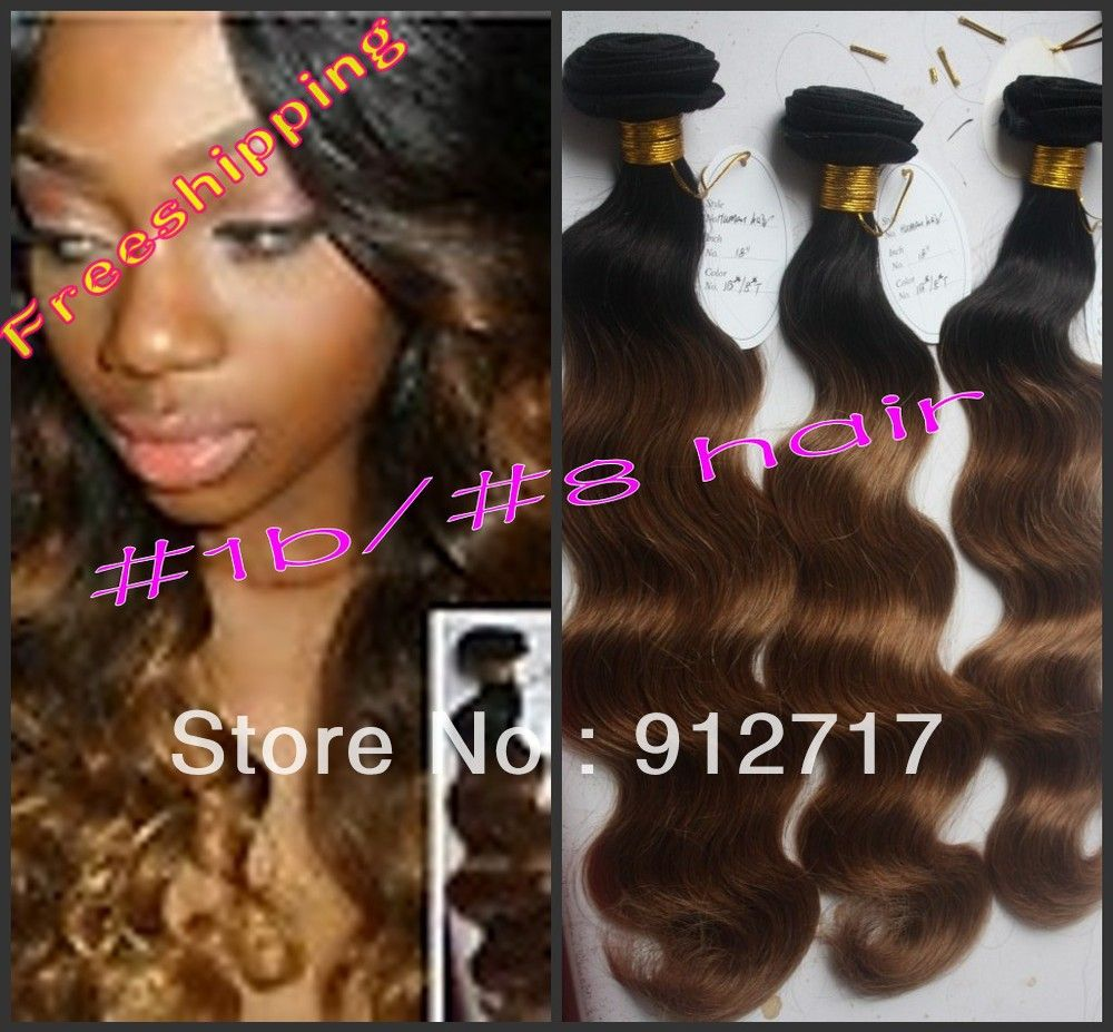 Freeshipping 100 Grade5A Malaysian virgin remy ombre hair