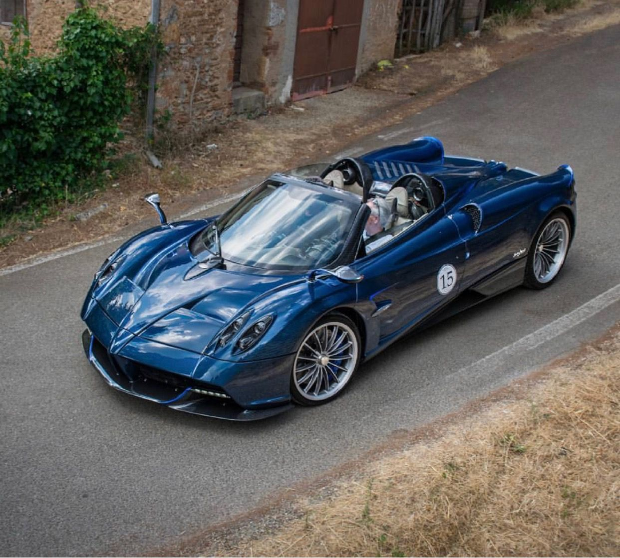 Pagani Huayra Roadster Made Out Of Blue & Gray Carbon
