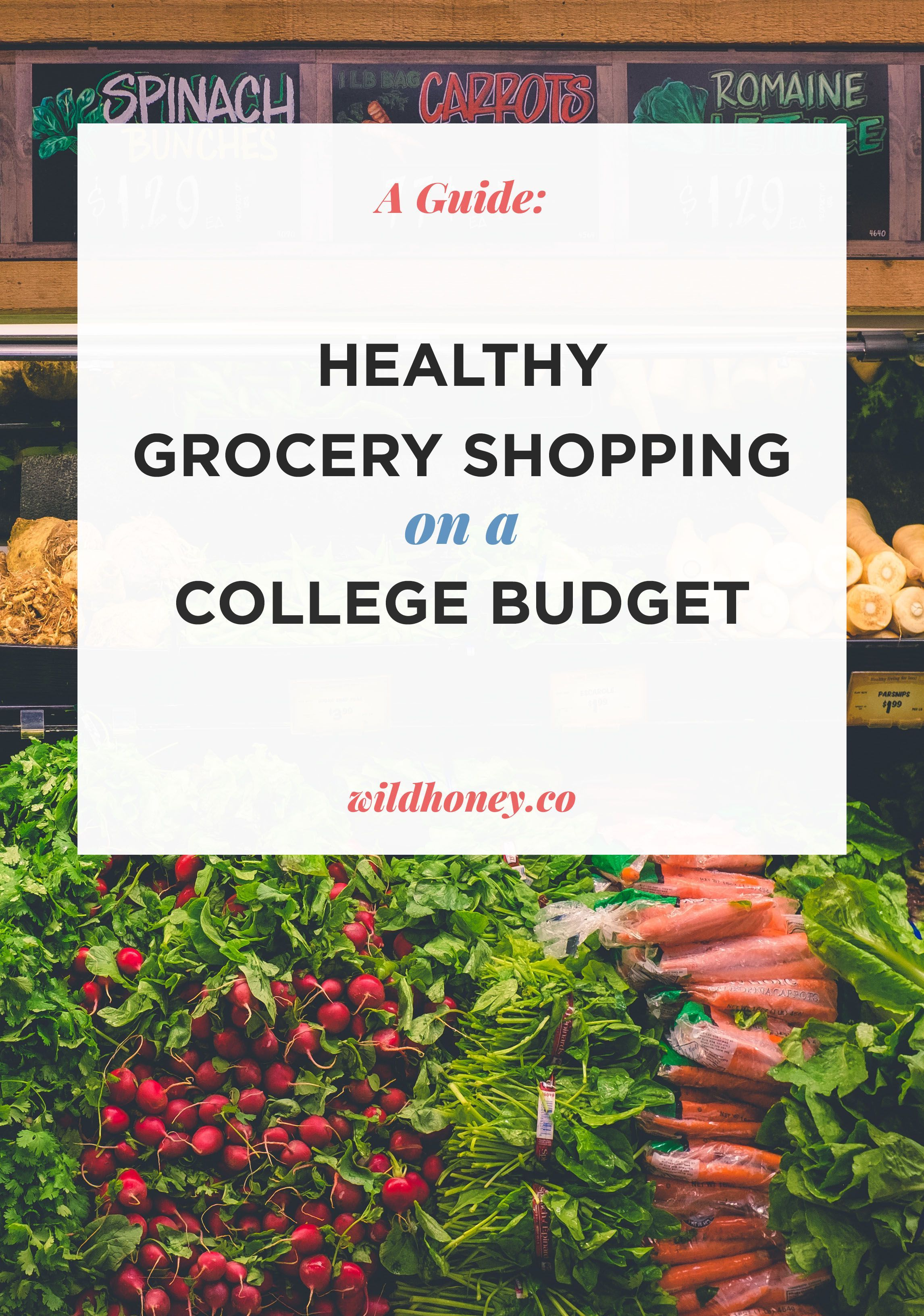 How to grocery shop on a college budget – wild honey images