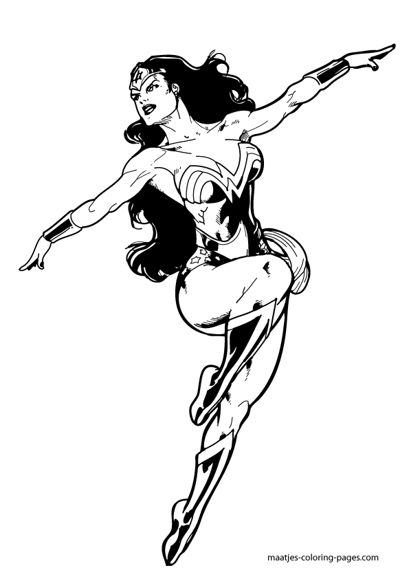 Free Printable Wonder Woman Coloring Pages For Kids