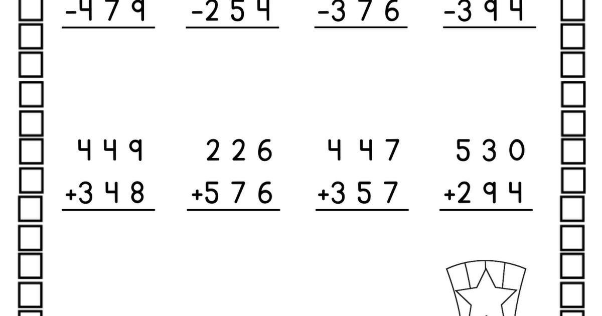 Downloadable Printable Pdf 2nd Grade Math Worksheets Pdf