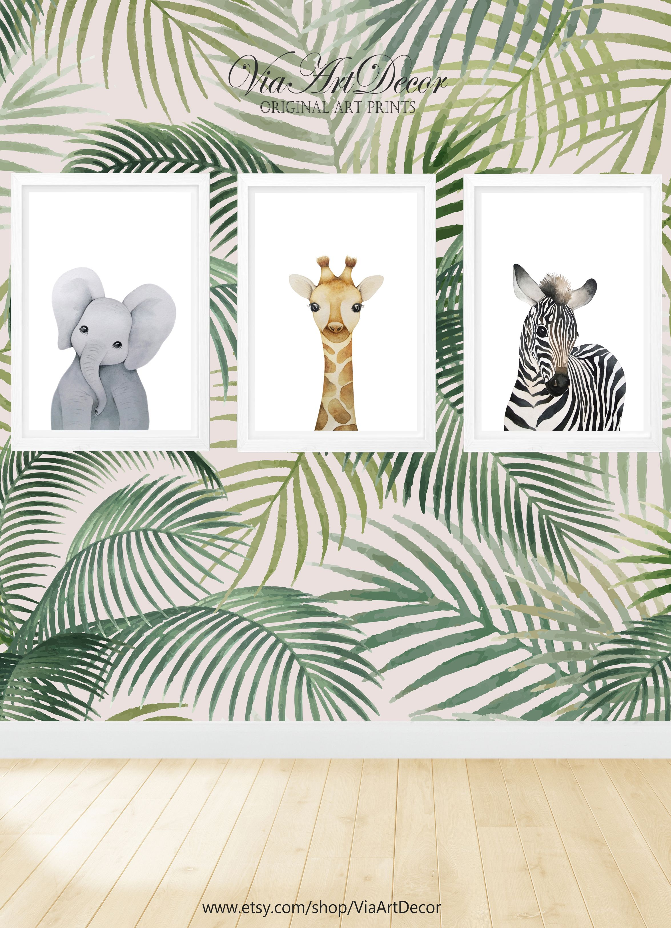 Safari Animals Set Of 3 Print Nursery Wall Art Printable Zebra Etsy In 2021 Safari Animal Prints Nursery Nursery Wall Art Printable Safari Animal Prints