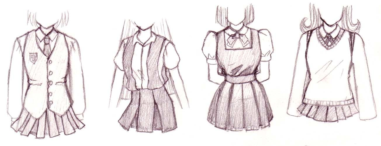 How To Draw Anime Outfits Aside From The Common Sailor Uniform