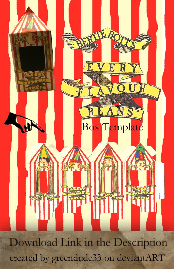Bertie Botts Box Template By Greendude34 Harry Potter Pinterest