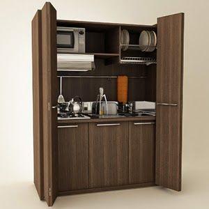 Diseños de Cocinas dentro de un Armario | Diseño de cocina ...