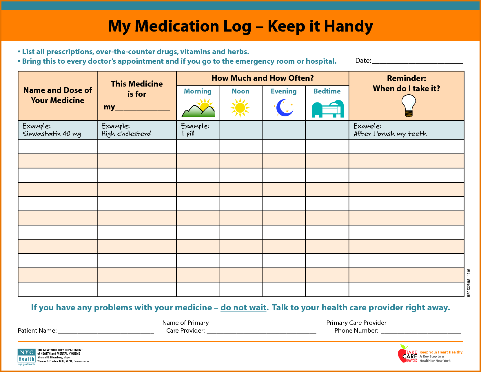 Medication Schedule | Mom | Daily schedule template ...