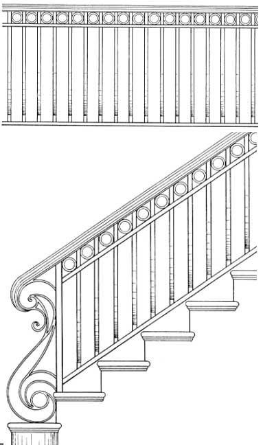 Stair Railing Designs ISR046