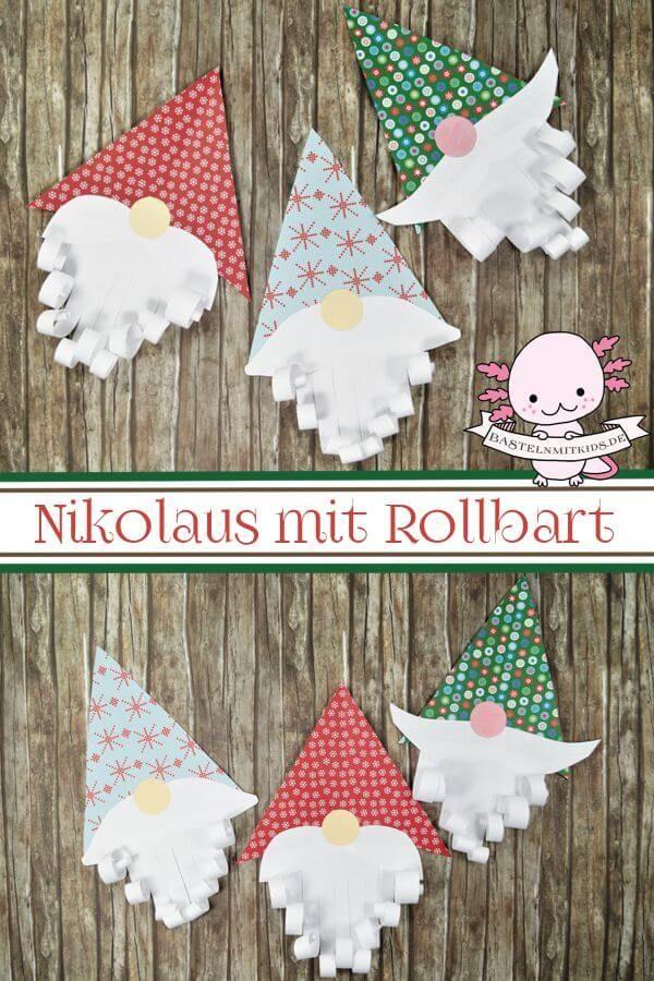 Nikolaus basteln mit Kindern und Kleinkindern #weihnachtsgeschenkebasteln