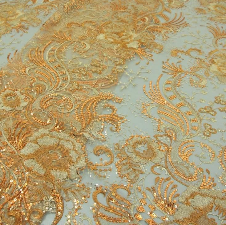 Online Cheap Wholesale Net Cloth Embroidered Fabrics/Sequins ...