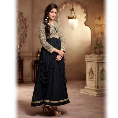 Black and Beige Designer Salwar Suit-