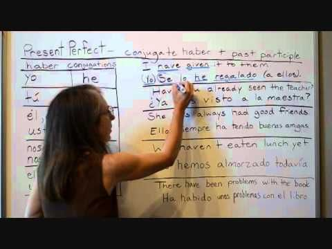 Spanish Present Perfect Verbs - YouTube