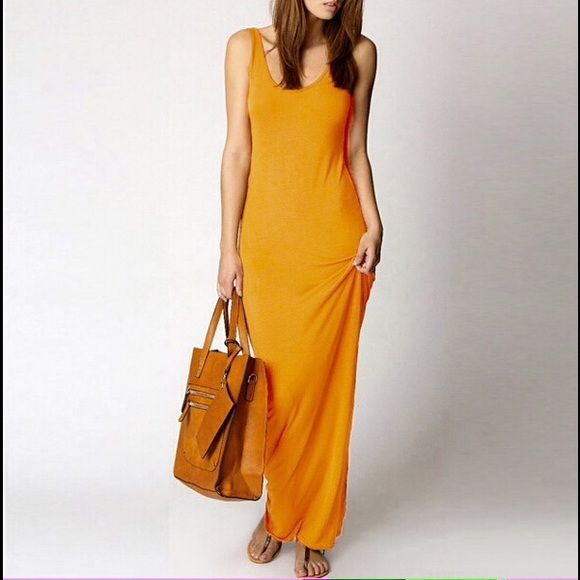 Tank top ankle length maxi dresses