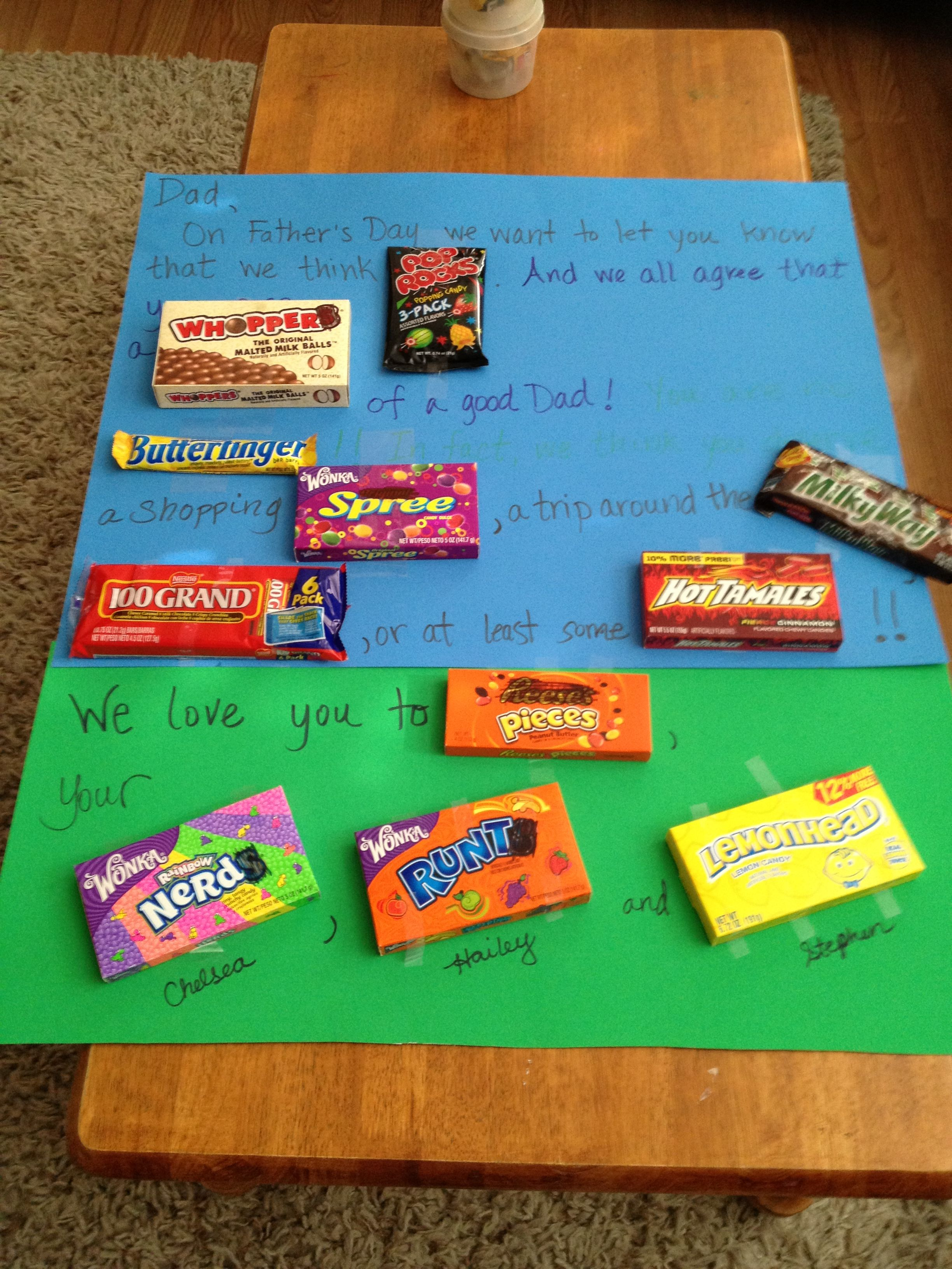 Fathers day candy card candy cards love you to pieces