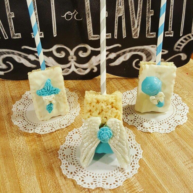 Heaven Sent Baby Shower rice krispie treats