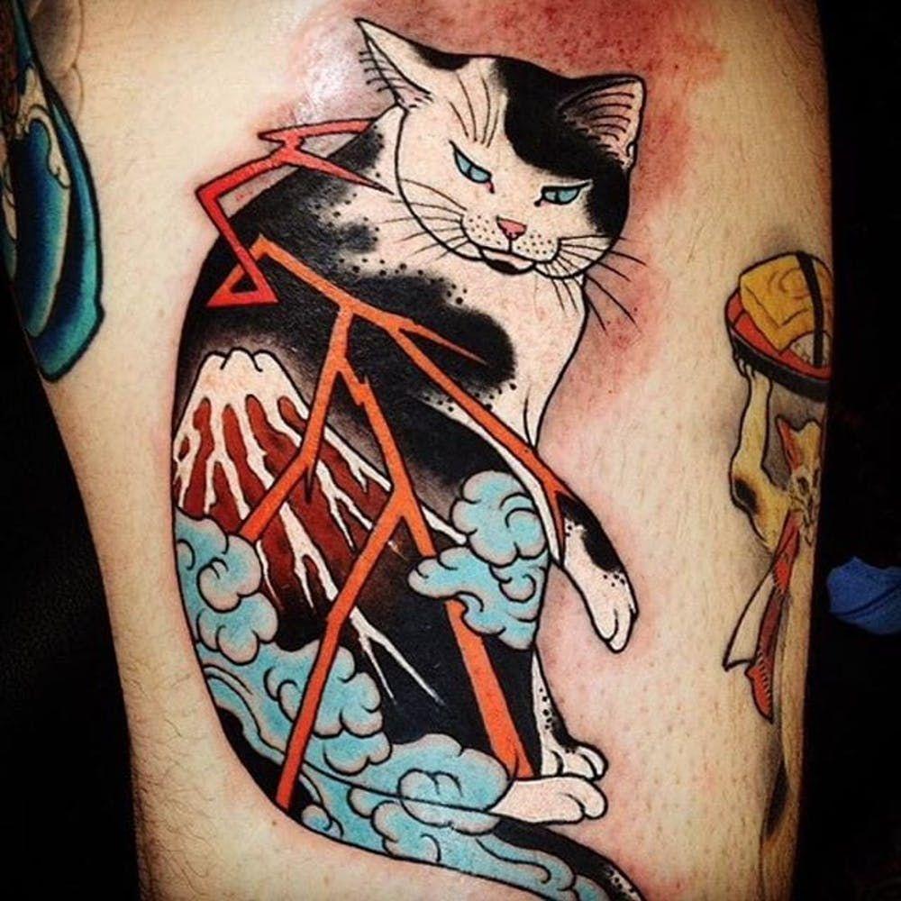 Monmon Cats from Their Originator, Horitomo Tattoos