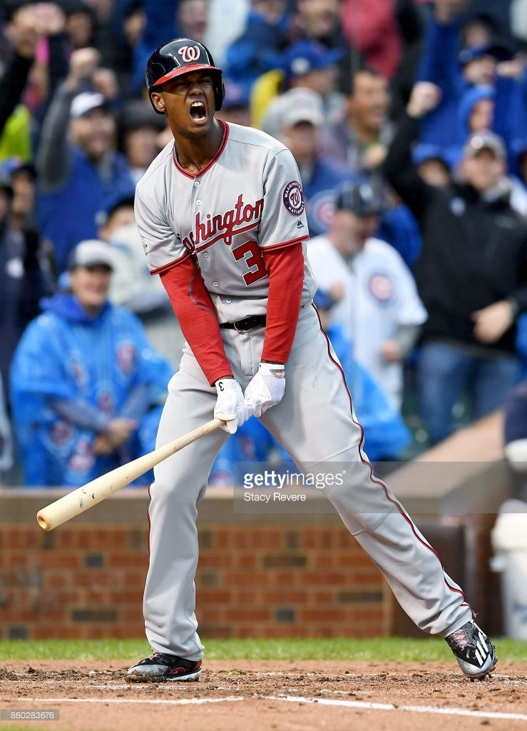 Michael Taylor Wsh Game 4 Nlds Oct 11 2017 At Chc Washington Nationals National League National