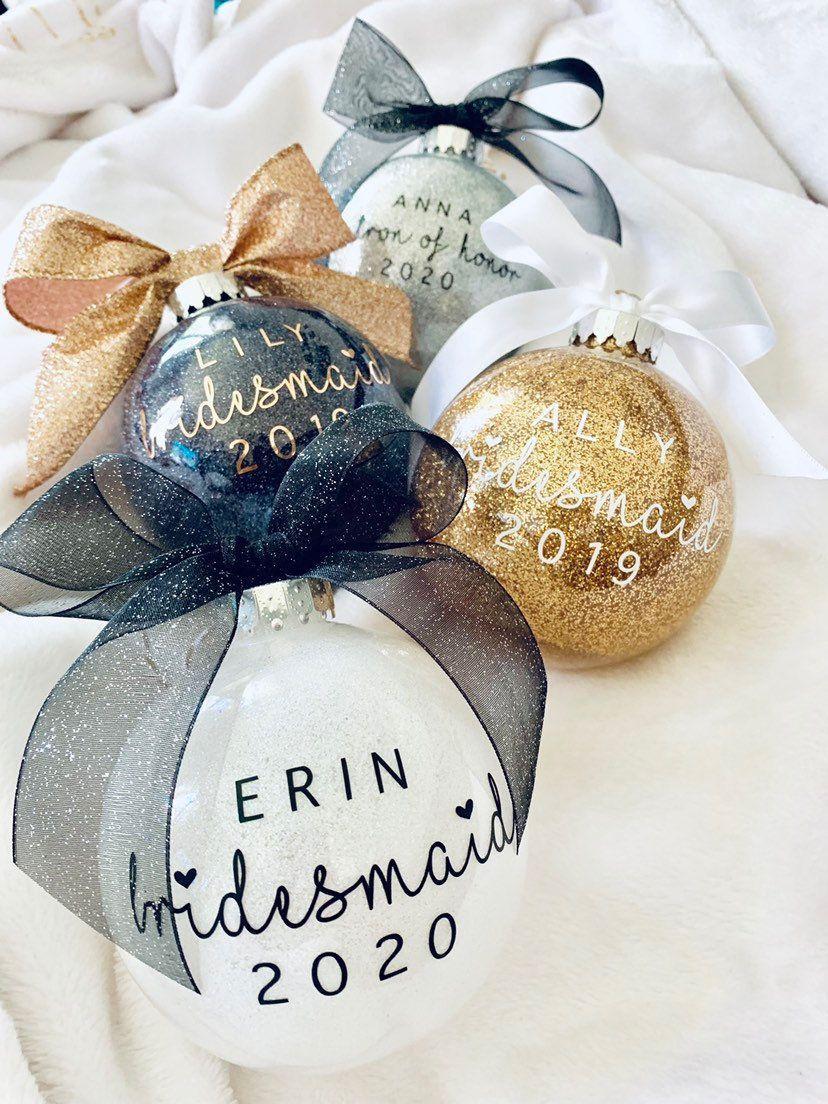 Bomboniere Matrimonio Dicembre.Personalizzati Damigella D Onore Regalo Di Natale Ornamento