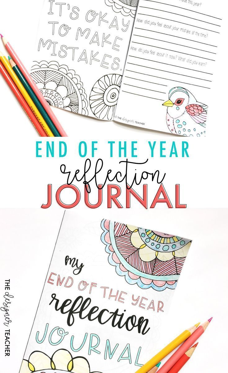 End of the Year Growth Mindset Reflection Journal | End of the Year ...