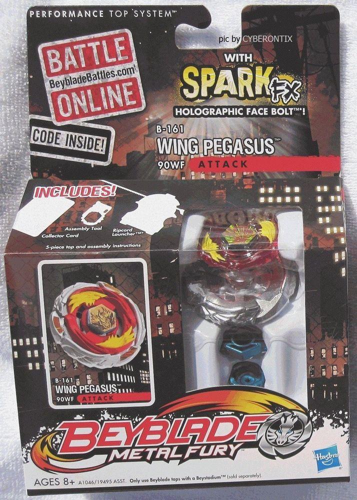 Beyblade Wing Pegasus Metal Fury 2012 B 161 Attack Type New Hasbro American Misb Hasbro Fury Pegasus