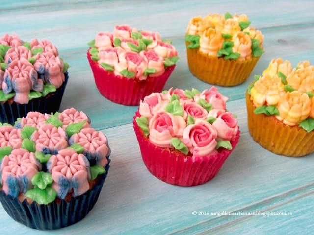 Cupcakes Decorados Con Boquillas Rusas En 2019 Boquillas