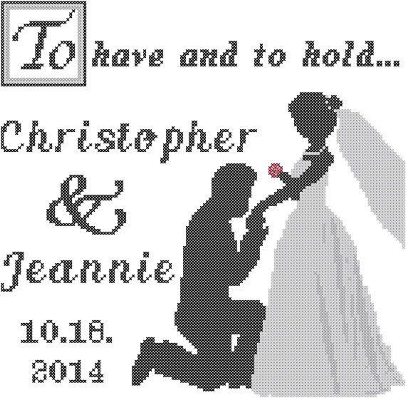Custom+Cross+Stitch+Pattern+Initials+Wedding+by+ZindagiDesigns,+$ ...