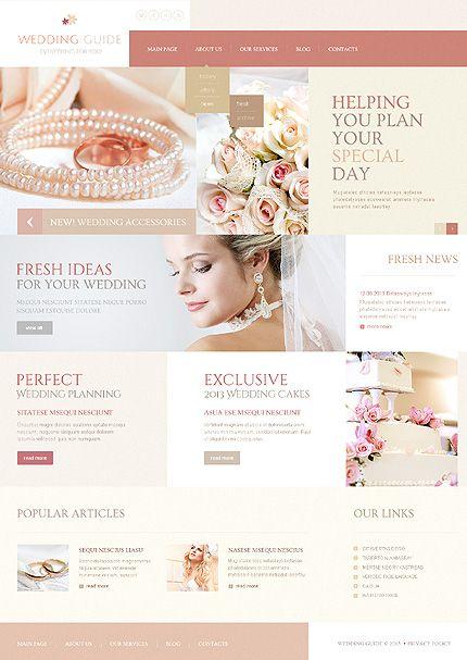 Template 44309 Wedding Planner Joomla Template With Gallery And Blog Wedding Planning Websites Wedding Planner Website Wedding Planning Sites