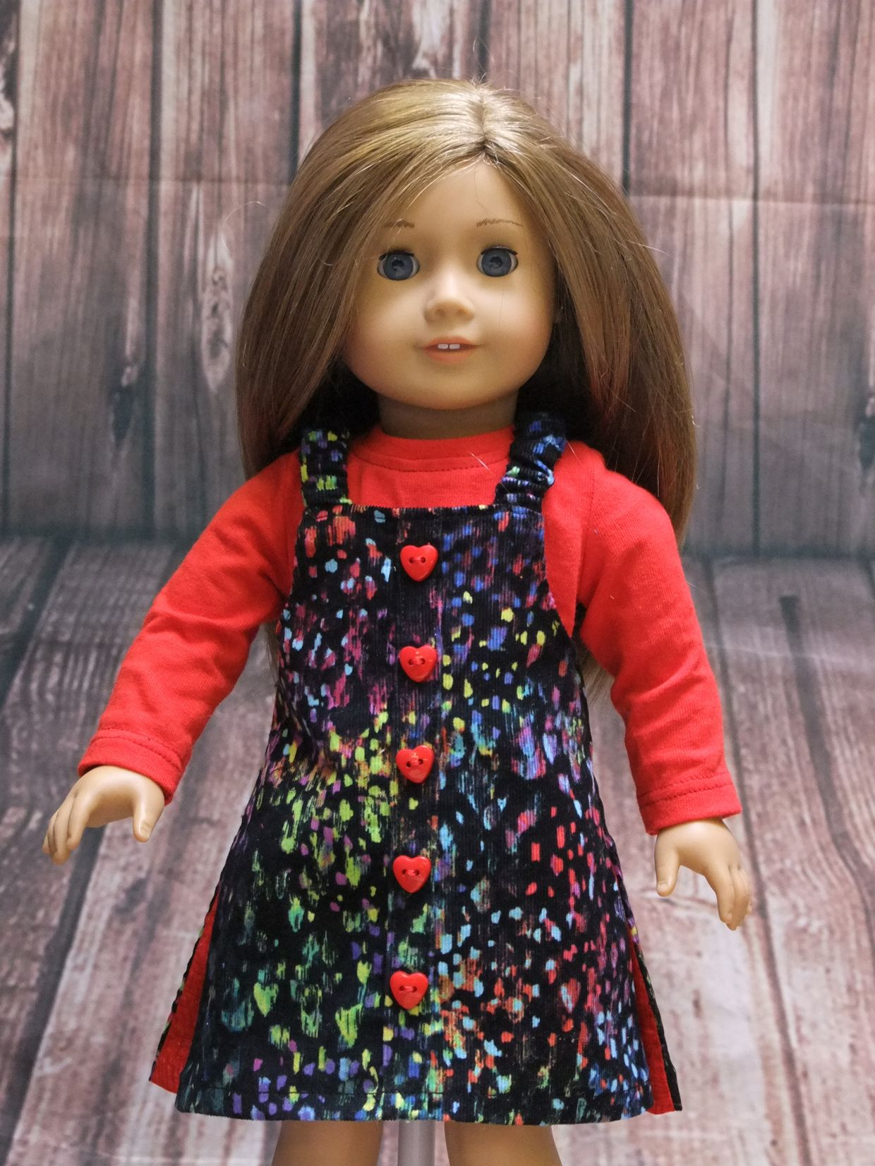 Oh Sew Kat! Reversible Jumper Doll Clothes Sewing Pattern Designed to Fit 18 Dolls such as American Girl® - PDF