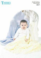 Tivoli 917 baby shawls knitting and crochet pattern