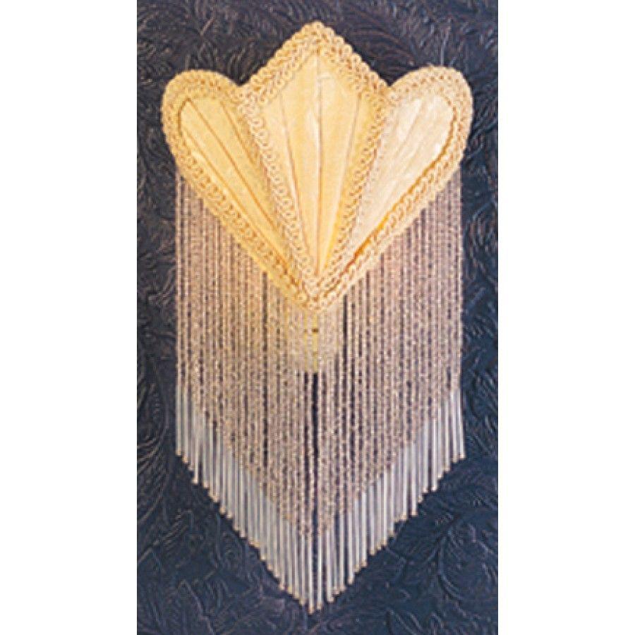 Meyda Tiffany Night Lights Fan Fabric With Fringe Night Light In Ivory 14395 Night Light Meyda Meyda Tiffany
