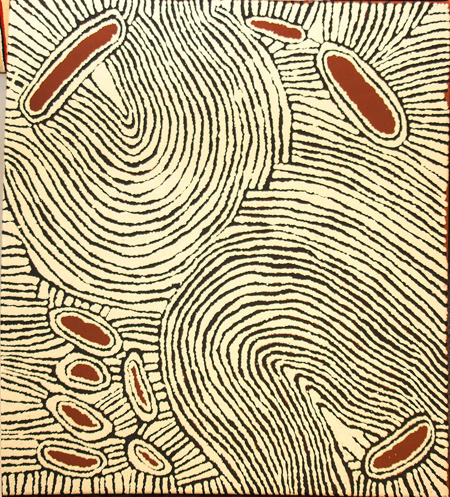 Rockhole of Umari (water dreaming stories) http://www.aboriginalsignature.com/art-aborigene-papunya-tula/rockhole-of-umari-water-dreaming-stories