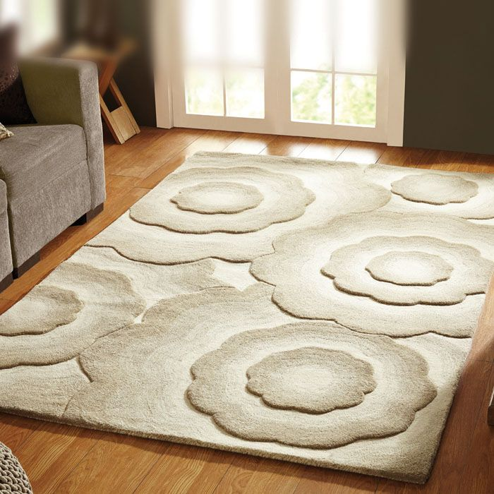 Shaggy Rug In A Beautiful Cream This Modern Is Perfect As Living Room