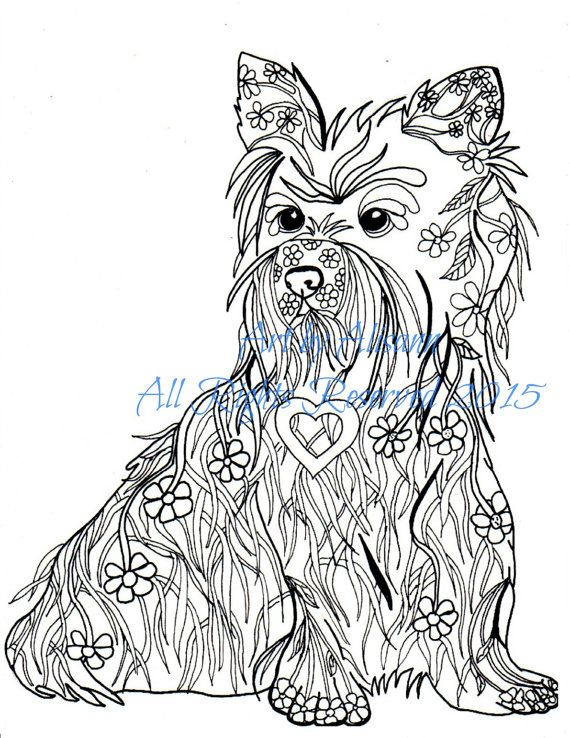 cairn terrier coloring book page digital pdf by