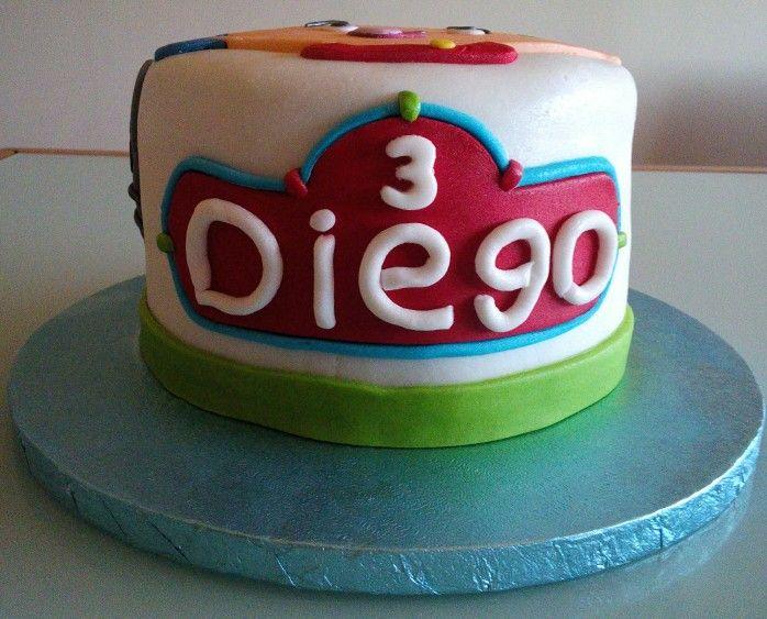 Tarta Caillou para el Cumple de Diego