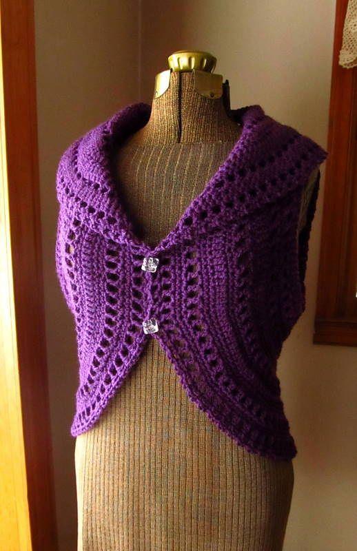 Circle Vest Shrug pattern by Patricia Hodson