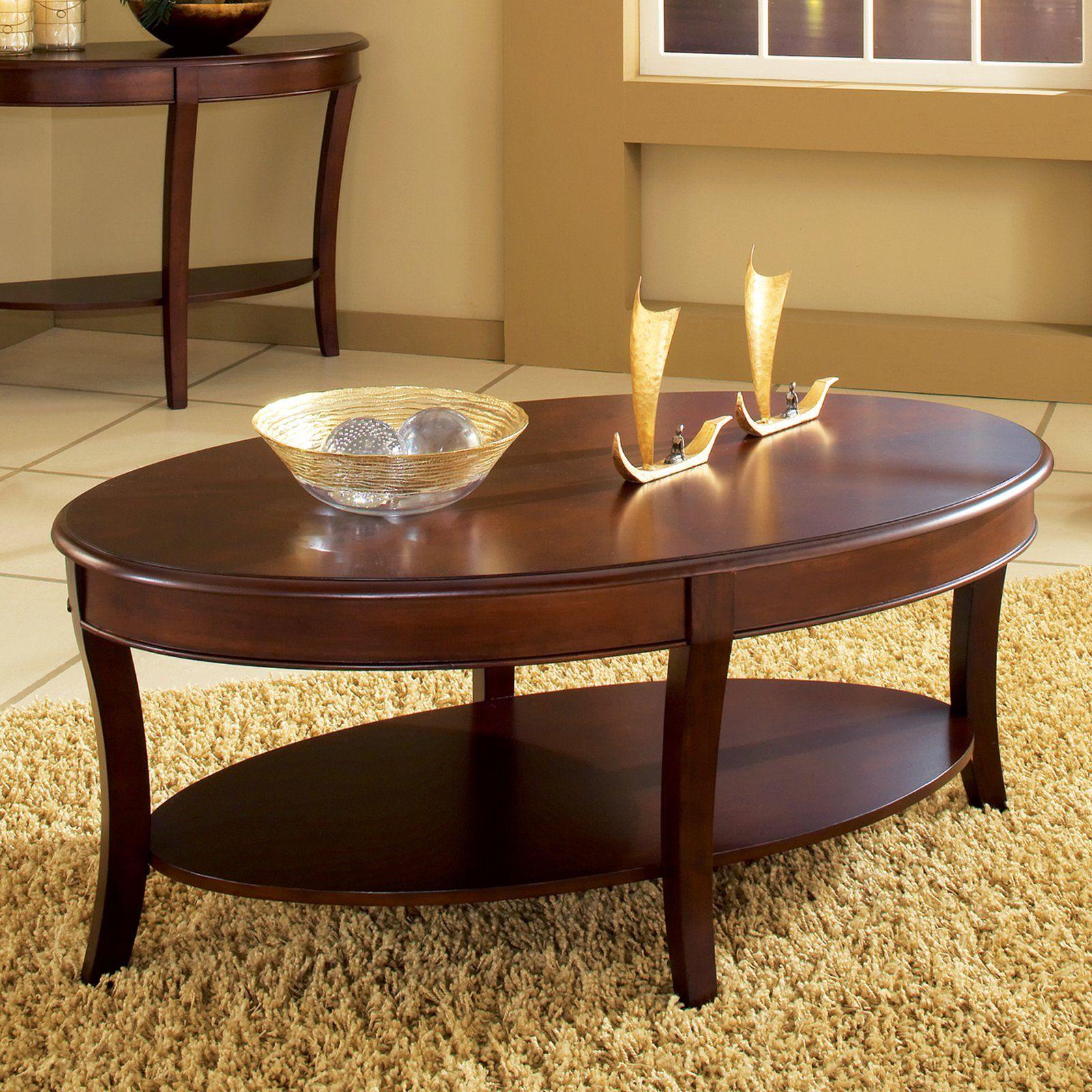 Steve Silver Troy Oval Cherry Wood Coffee Table Www Hayneedle Com Oval Coffee Tables Cherry Wood Coffee Table Coffee Table [ 1600 x 1600 Pixel ]