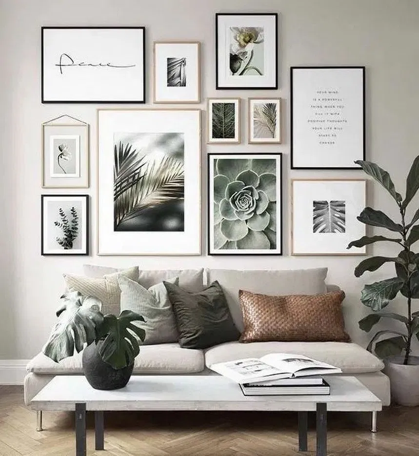 26 Awesome Gallery Wall Design Ideas 6 Picture Wall Living Room
