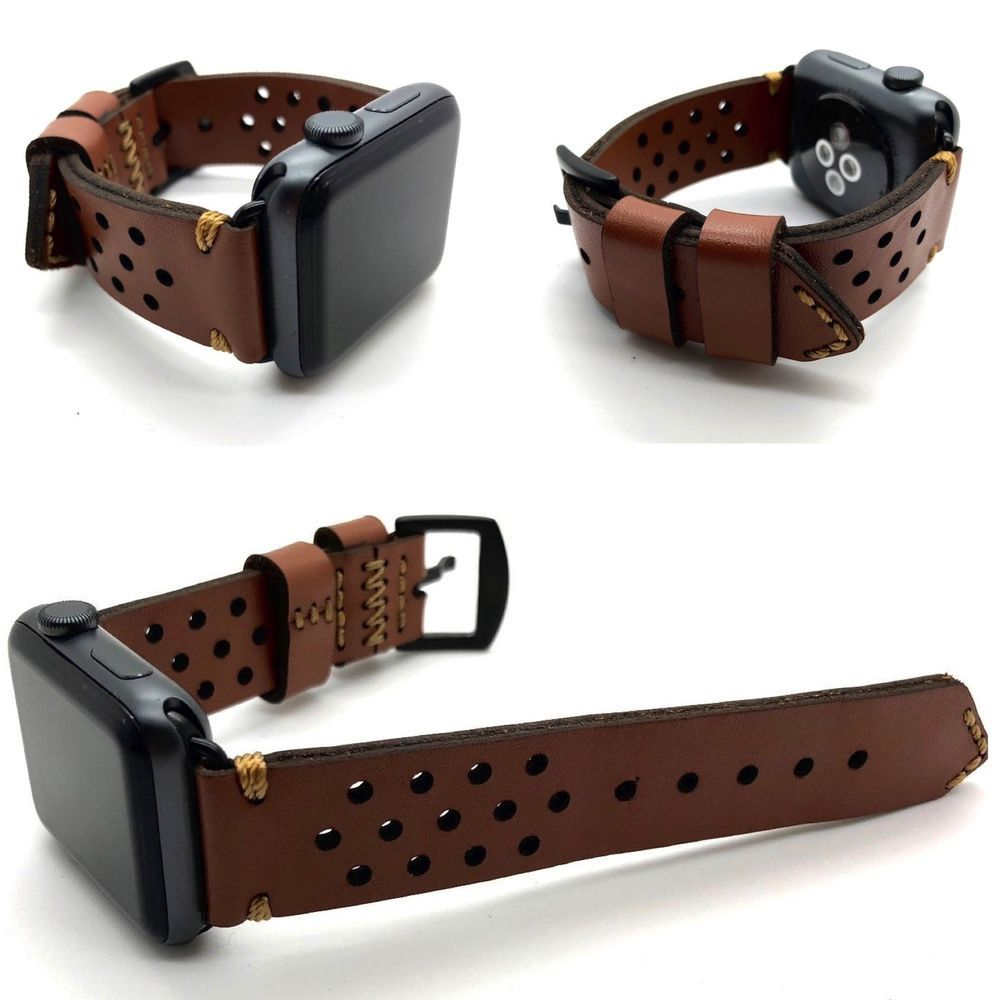 Replacement Handcrafted Leather Strap For 38mm Apple Watch