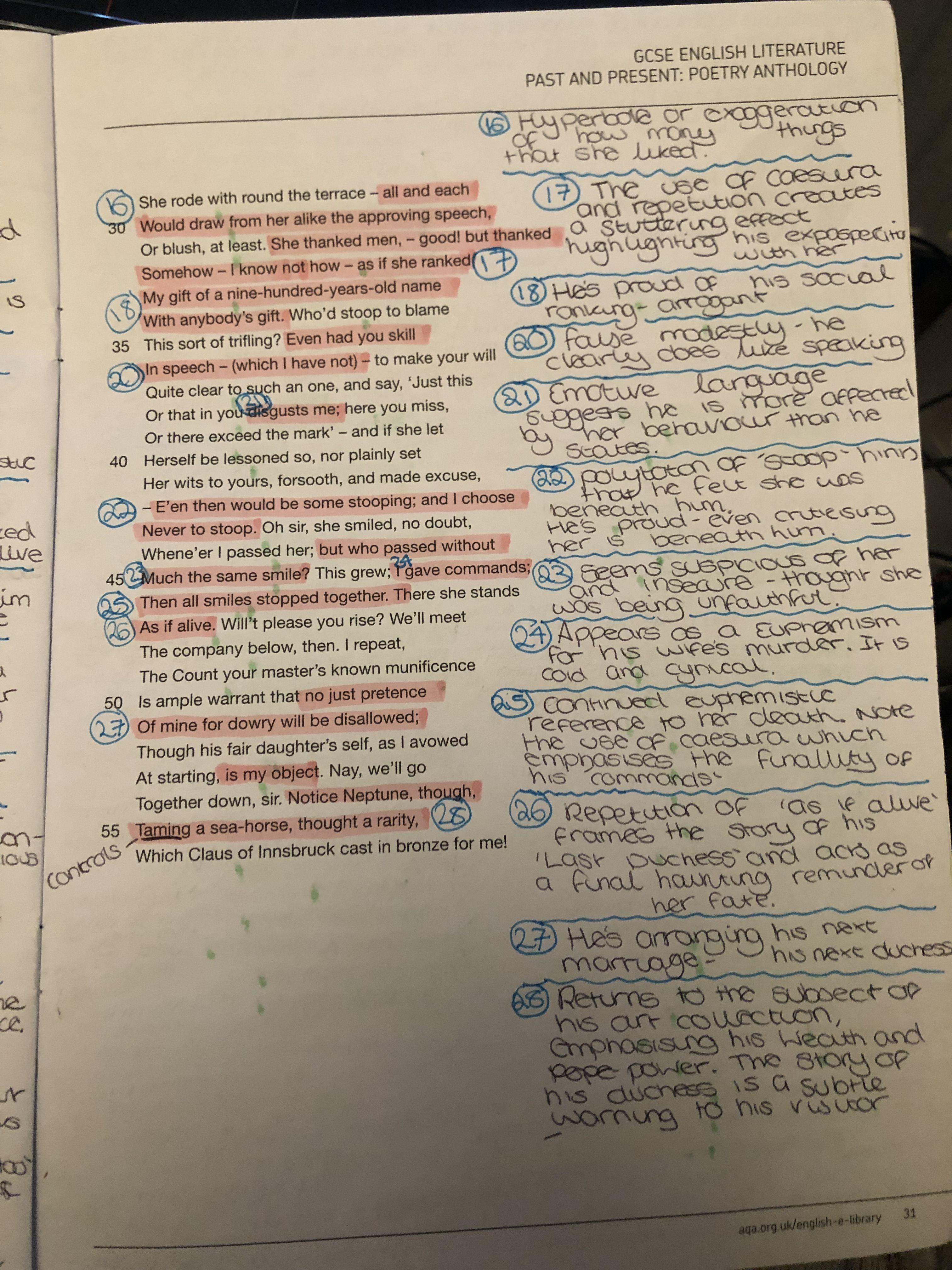 My Last Duches Analysi Poem Gcse English Literature Line By Analysis