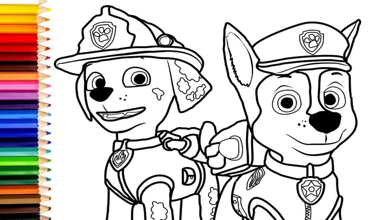 paw patrol ausmalbilder in 2020  ausmalbilder paw patrol