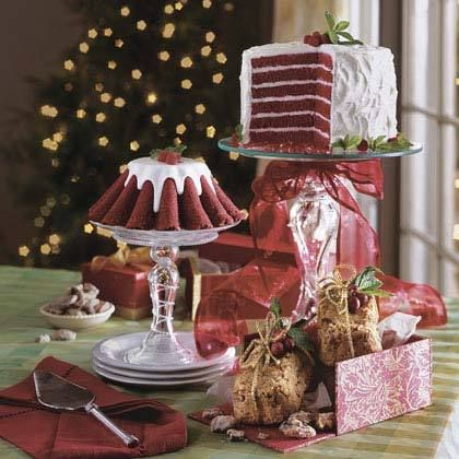 Chocolate-Red Velvet Layer Cake by Southern Living