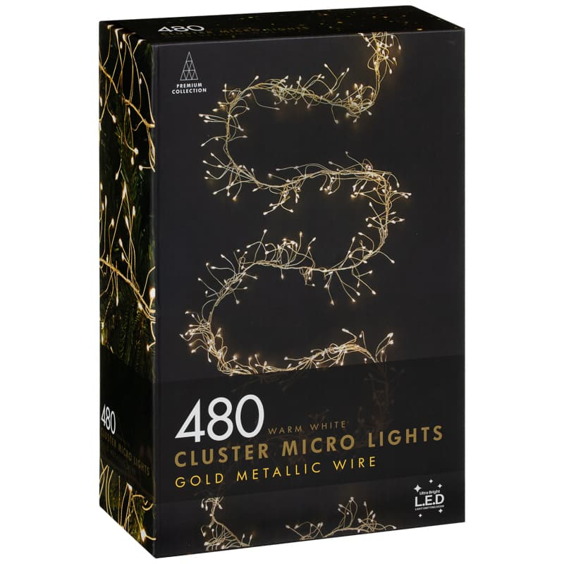 Christmas Cluster Micro Lights 480pk Warm White Lights Warm White Outdoor Christmas Lights