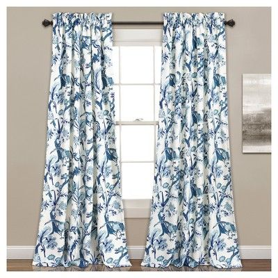 Dolores Room Darkening Window Curtain Set 84 X52 Lush Décor Target Panel Curtains Floral Room Curtains