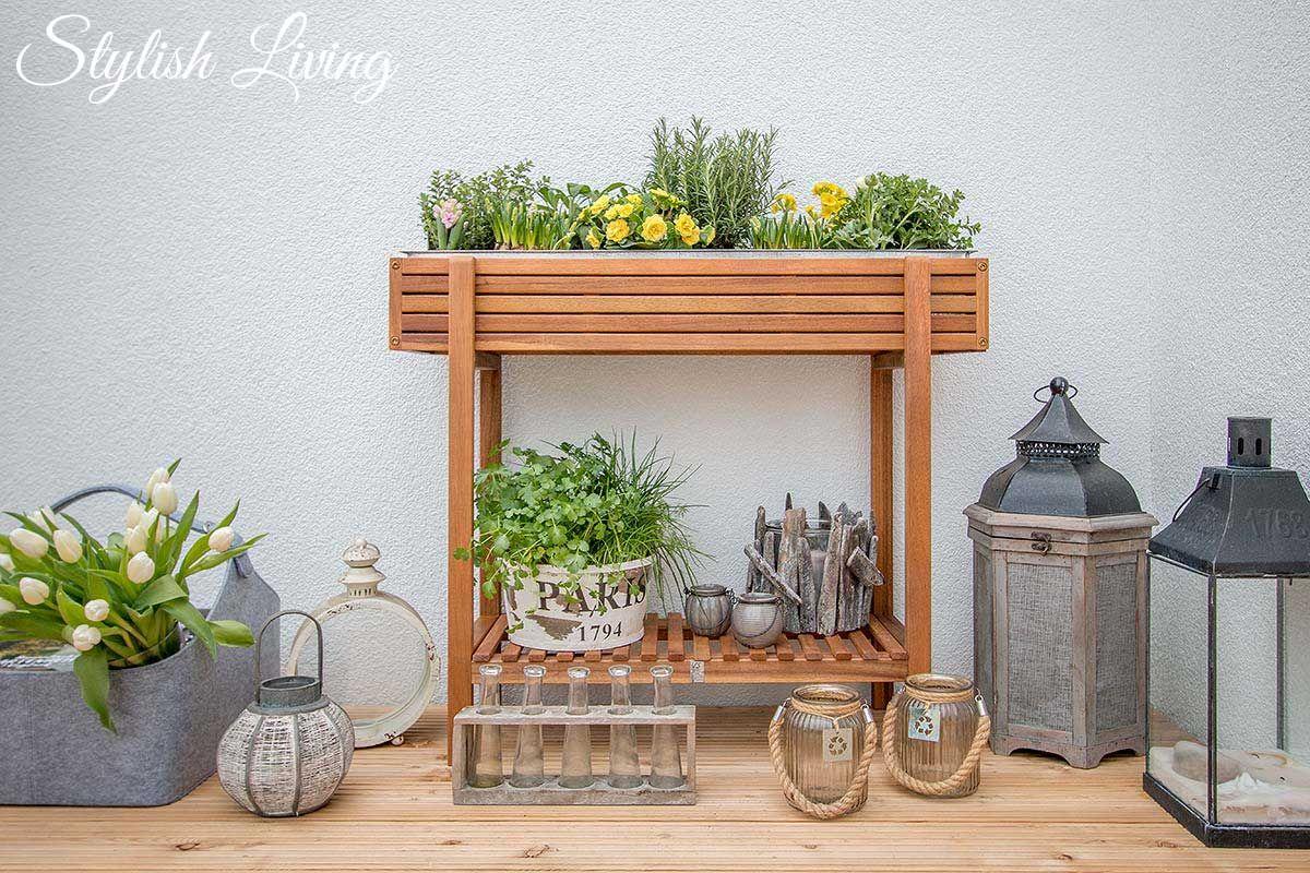 Hochbeet Akazie Von Depot Auf Dem Balkon | Balkon | Pinterest Hochbeet Balkon Bauen Bepflanzen