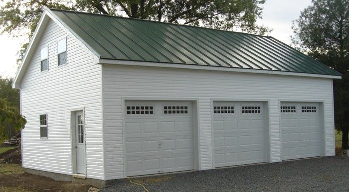 A Two Story Separate Garage With Living Or Storage Space Above Is The Perfect Addition To Any Property Two Story Garage Garage 2 Story Garage