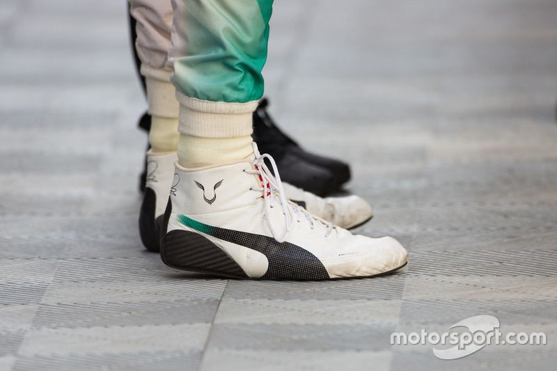 Racing boots of Lewis Hamilton 946f06476087