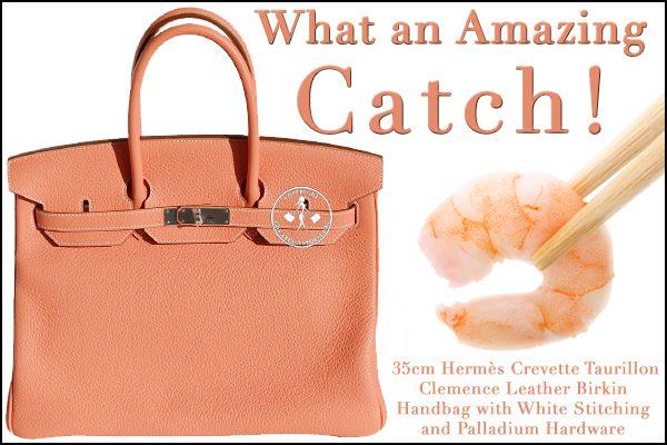 35cm Hermès Crevette Taurillon Clemence Leather Birkin Handbag - What an Amazing Catch!
