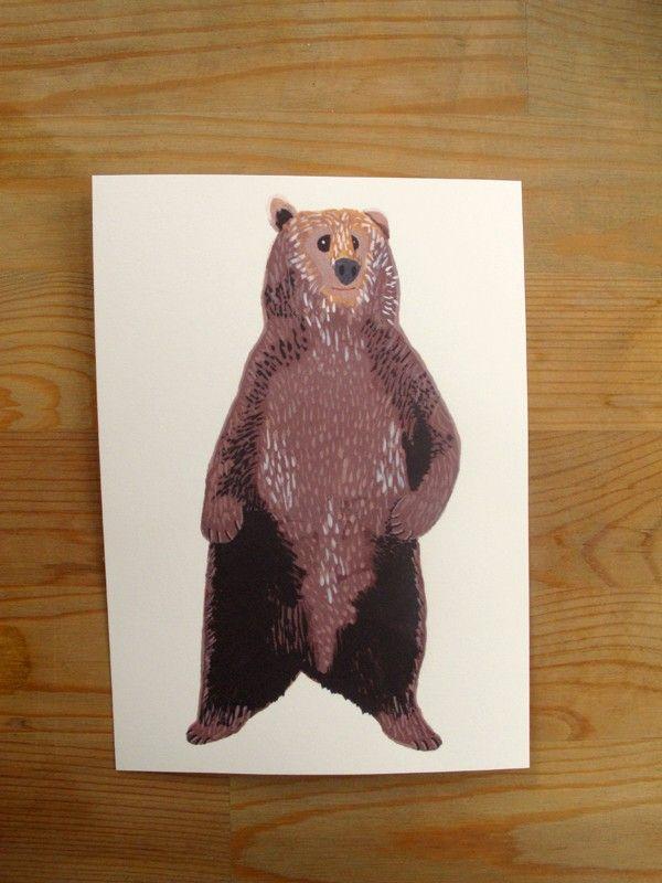 Brown Bear 5x7 Print. $10.00, via Etsy.