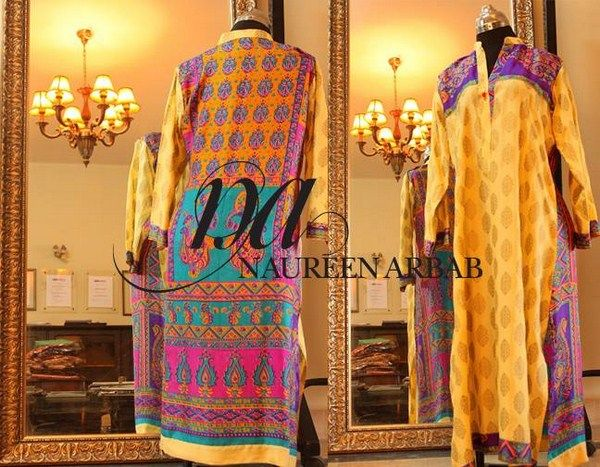 Naureen Arbab Winter Dresses 2014 For Women