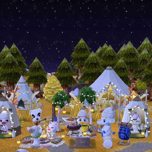 入れ替え キャンプサイトあつ森