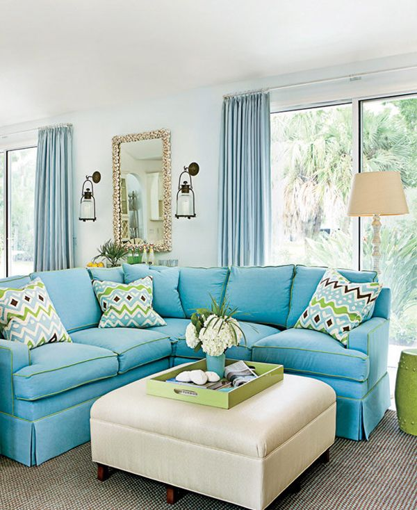 Wonderful Florida Home Decorating Ideas Part - 12: House Tour Coastal Florida Home, Home Decor, An Abundance Of Blue Appears  Prominently On Pillows And Walls While Rugs And Upholstered Furniture Keep  Things ...